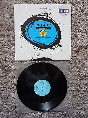 "Erasure Sometimes (Shiver Mix) 3 Track 1986 German Import 12"" Vinyl Single EXC+"