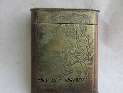 The ancient Chinese old copper lighters boxes/2
