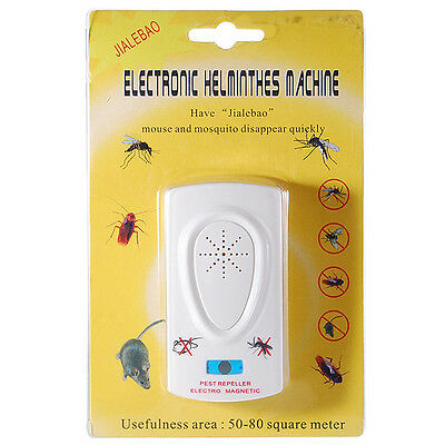 Whit Ultrasonic Plug In Pest Repeller Night Light Mouse Mice Rat Spider Insects