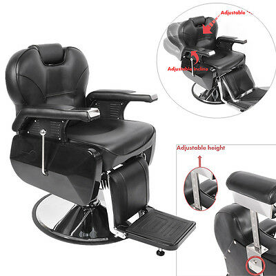 Panana Adjustable Barber Chair Salon Hydraulic Reclining Hairdressing Shaving