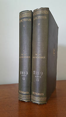 Epictetus: Discourses, Books I-IV - Oldfather (Loeb Classical Library) 2 Volumes