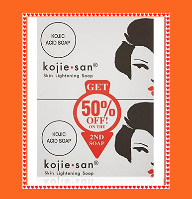 3 X 135g GENUINE KOJIE SAN Kojic Acid Soap Skin Whitening Lightening U.K. Stock