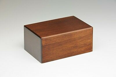 Wooden Cremation Urn - 2nds - Bargain! - Small Size - Walnut Color
