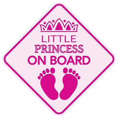 LITTLE PRINCESS ON BOARD Magnet Sign Made in the USA