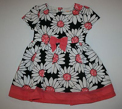 NEW Gymboree Girls Daisy Print Dress NWT Size 18-24m 3T 4T 5T Kitty In Pink Line