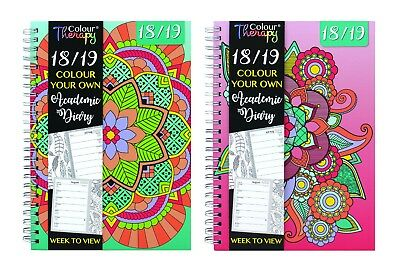 Colour Your Own 2017-2018 A5 Week To View Wiro Academic Diary Planner Organiser