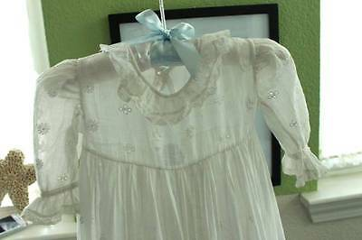Vintage christening gown- gorgeous embroidery and lace details. Museum quality