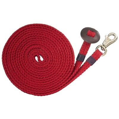 Tough-1 Flat Cotton Lunge Line 24ft Red
