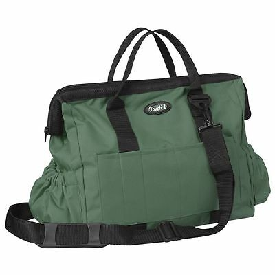 "Tough-1 600 Denier Poly Grooming Tote 14"" x 10"" Hunter Green"