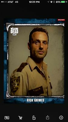 Topps The Walking Dead Card Trader Blue Rick Grimes What Lies Ahead