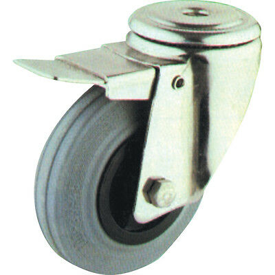 Atlas Workholders 100Mm B/H Swivel Castor(S/S) Grt & Brake