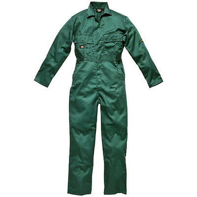 "Dickies Mens Redhawk Stud Front Overalls Lincoln Green 52"" 30"""
