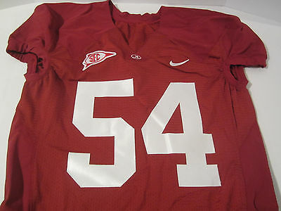online store faef5 ac53f ALABAMA CRIMSON TIDE SEC Game Used Red Jersey #54 Size 50 Large Certified  Holo