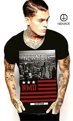 Nomade Men's Black T-shirt short sleeve Slim fit size M 10156