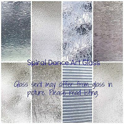 "CLEAR TEXTURED Glass Variety (8"" x 10"") Pack 8 Sheets Stained Glass"
