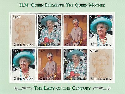 (50037) Grenada MNH Queen Mother Lady of the Century minisheet unmounted mint