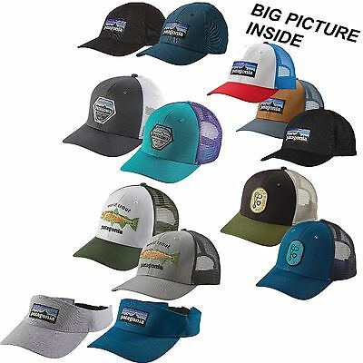 PATAGONIA HAT World Trout Fishstitch Fitz Roy Hex Climb Clean Rack P-6 Cappello