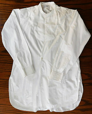 Vintage 1935 dress shirt size 16 collar Robinson & Cleaver mens formal 1930s