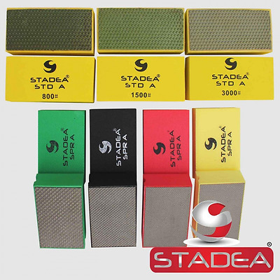 STADEA Diamond Hand Polishing Pads Electroplated/Resin Set for Granite Concrete
