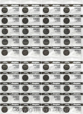 40 pc 1616 Energizer Watch Batteries CR1616 CR 1616 Lithium Battery 3.0V 0% HG
