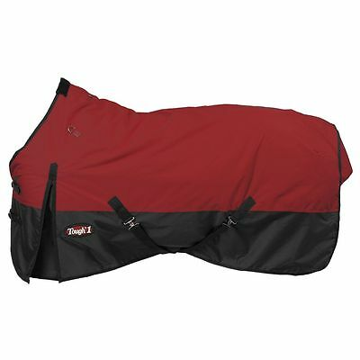 "Tough-1 600D Waterproof Poly Turnout Blanket 78"" Burgundy"