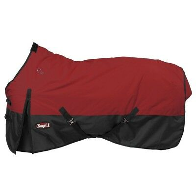 "Tough-1 600D Waterproof Poly Turnout Blanket 81"" Burgundy"