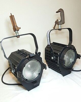 "PAIR 1k 6"" Fresnel Altman Stage Light lamp mole type 1000w lighting w/ clamp"