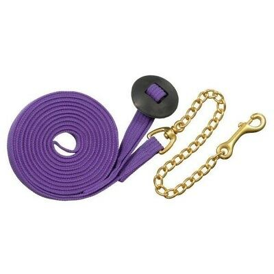 Tough-1 German Cord Cotton Lunge Line w/ Heavy Chain 6 Pack Traditional