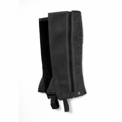 Tough-1 Synthetic Half Chaps XLarge Black