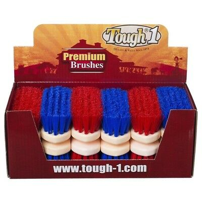Tough-1 12 Pack Jr Size Medium Poly Bristle Brush Display 12 Pack Traditional
