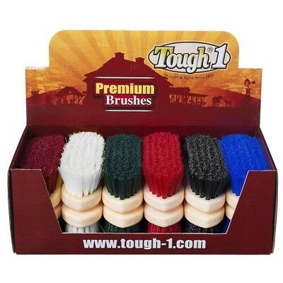 Tough-1 12 Pack Assorted Soft Poly Bristle Brush 12 Pack Traditional