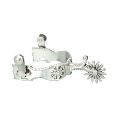Kelly Silver Star Rowel Show Spurs Stainless Steel