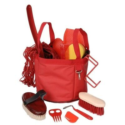 Tough-1 Show Time Groomers Set with Tote Red
