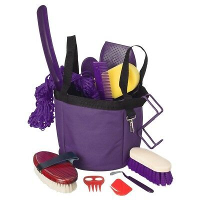 Tough-1 Show Time Groomers Set with Tote Purple