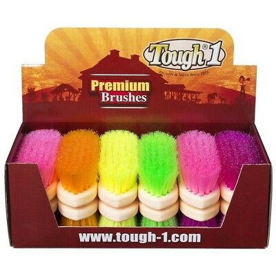 Tough-1 12 Pack Assorted Soft Poly Bristle Brush 12 Pack Bright Colors