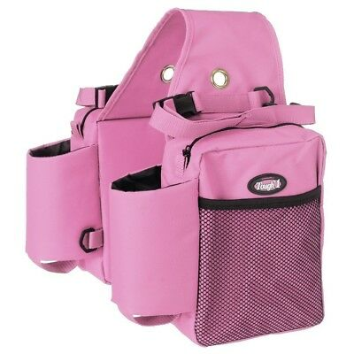Tough-1 Nylon Water Bottle / Gear Carrier Saddle Bag One Size Pink