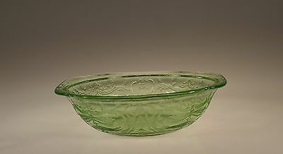 Hard to Find Vintage Federal Glass Company Green Madrid Large Berry Bowl c.1931