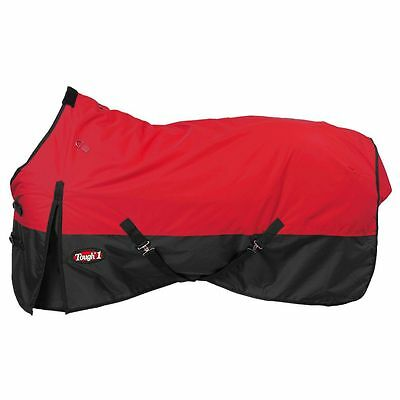 """Tough-1 600D Waterproof Poly Turnout Blanket 66"""" Red"""