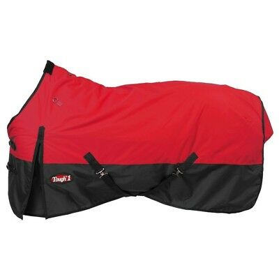"""Tough-1 600D Waterproof Poly Turnout Blanket 69"""" Red"""