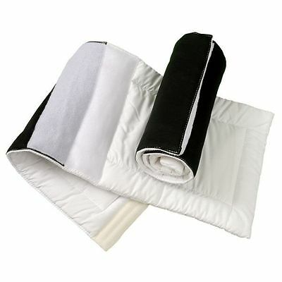 """Tough-1 Pair of Quilted Combo Leg Wraps with """"Quick Grip"""" Closure White"""