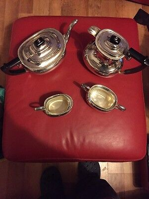 Vintage Mappin And Webb Silver Plate 4 Piece Tea Set  Excellent Condition