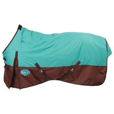 """Tough-1 600D Waterproof Poly Turnout Blanket 72"""" Turquoise"""