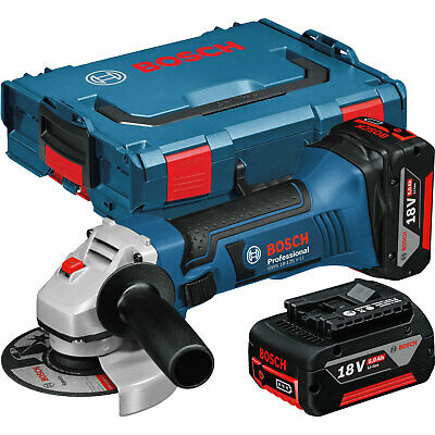 bosch gws 18 125 v li cordless angle grinder bare carton. Black Bedroom Furniture Sets. Home Design Ideas