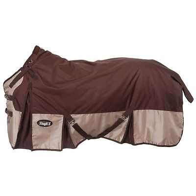 "Tough-1 Extreme 1680D Waterproof Poly Turnout Blanket 75"" Brown"