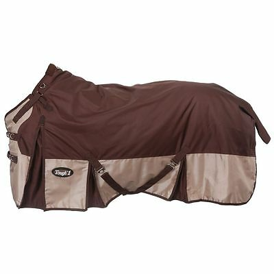 "Tough-1 Extreme 1680D Waterproof Poly Turnout Blanket 78"" Brown"