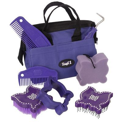 Tough-1 8 Piece Crystal Butterfly Grooming Kit Purple
