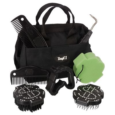 Tough-1 8 Piece Crystal Dollar Signs Grooming Kit Black