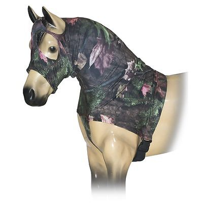 Tough-1 Mane Stay Miniature Nylon/Spandex Hood in Prints Large Tough Timber