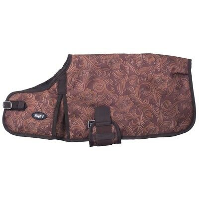 Tough-1 600D Dog Blanket in Prints Small Tooled Leather Brown