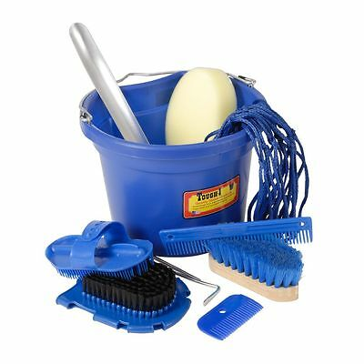 Tough-1 10 Piece Grooming Bucket Blue/Royal